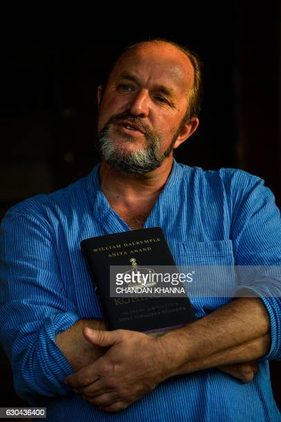 In this photograph taken on December 16 Scottish historian and writer William Dalrymple poses at his farm house in New Delhi Many precious stones...