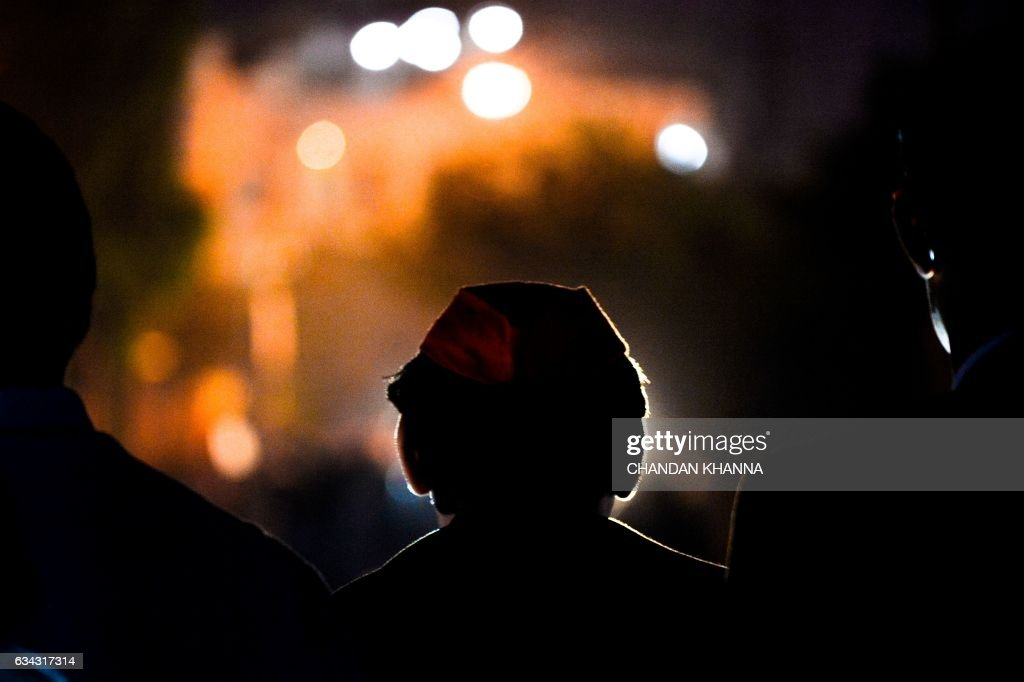 In this photograph taken on February 3 Uttar Pradesh state Chief Minister Akhilesh Yadav looks to the crowd during an election rally in Agra Five...