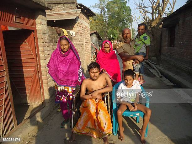 In this photograph taken on January 20 Bangladeshi father and fruit vendor Tofazzal Hossain who has sparked a debate over assisted suicide is seen...