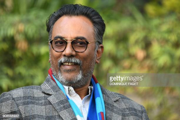 In this photograph taken on January 3 Bhuvan Vikrama government archeologist overseeing restoration efforts speaks during an interview with AFP in...