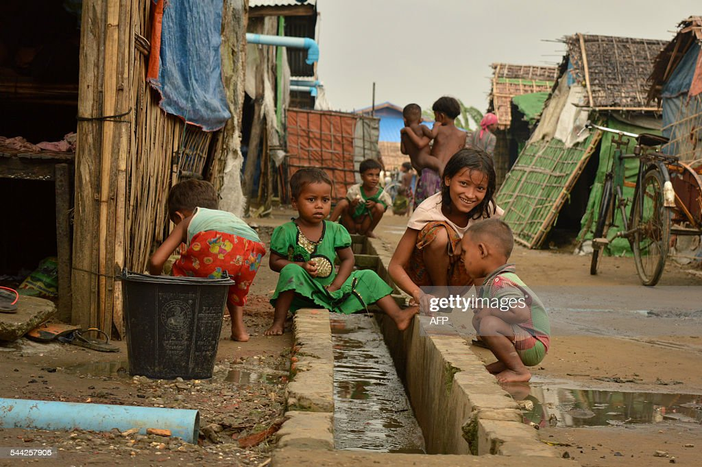 594be4db In this photograph taken on July 2 a Muslim Rohingya children are ...
