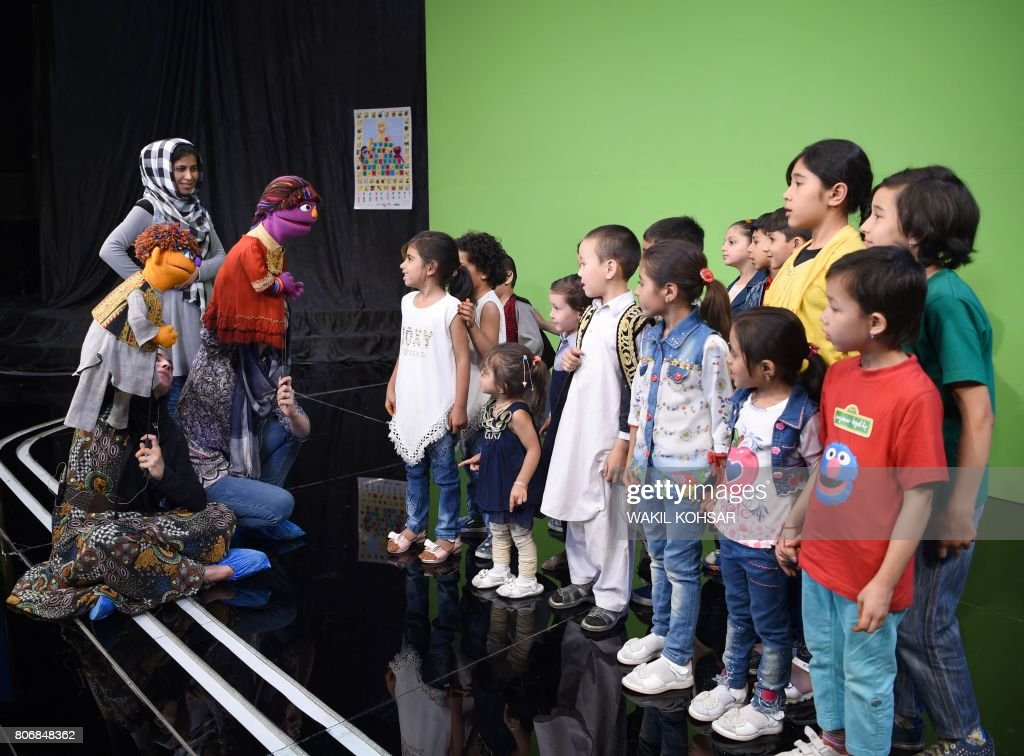 6c6d43b2 In this photograph taken on July 2 Afghan puppeteers Seema Sultani ...