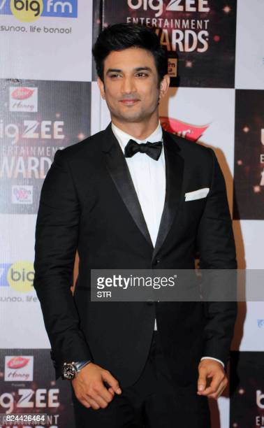 In this photograph taken on July 29 Indian Bollywood actor Sushant Singh Rajput attends the BIG ZEE Entertainment Awards 2017 ceremony in Mumbai /...