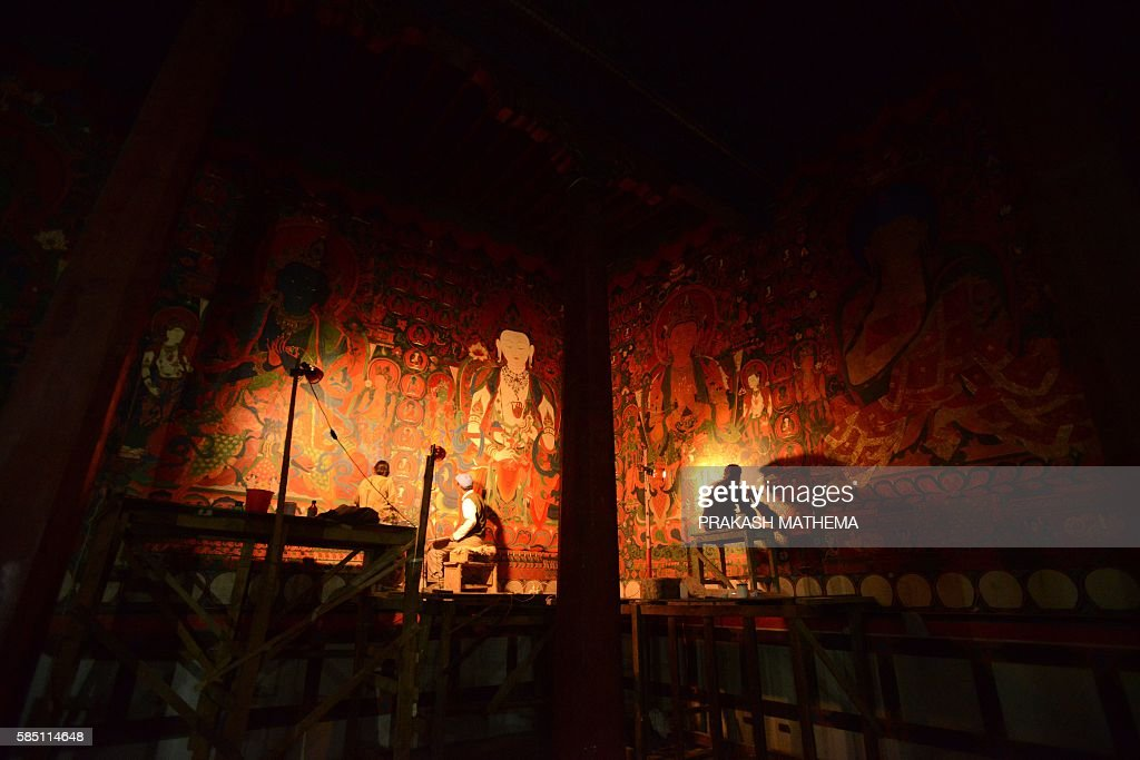 NEPAL-TIBET-RELIGION-BUDDHISM : News Photo