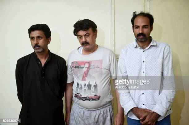 In this photograph taken on May 2 arrested doctor Fawad Mumtaz and his paramedic assistants who were conducting unauthorised surgeries to transplant...