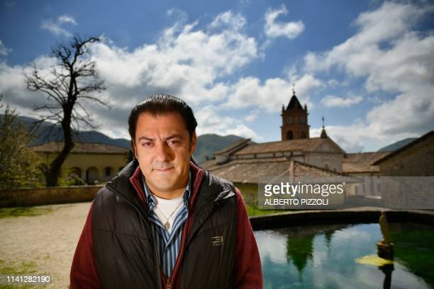 In this photograph taken on May 2 Director of the Dignitatis Humanae Institute Benjamin Harnwell poses at the Trisulti Monastery Certosa di Trisulti...