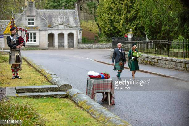 In this picture released by Clarence House, Prince Charles, Prince of Wales and Camilla, Duchess of Cornwall walk to take part in a two minute...