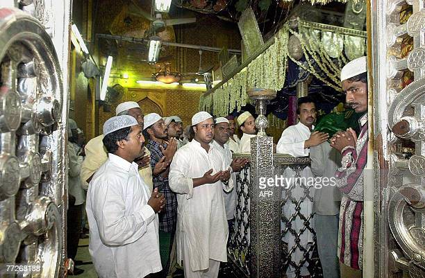In this picture taken 16 July 2001 Indian Muslims offer prayers at the Khwaja Moinuddin Chishti Dargah in Ajmer At least one person was killed in a...