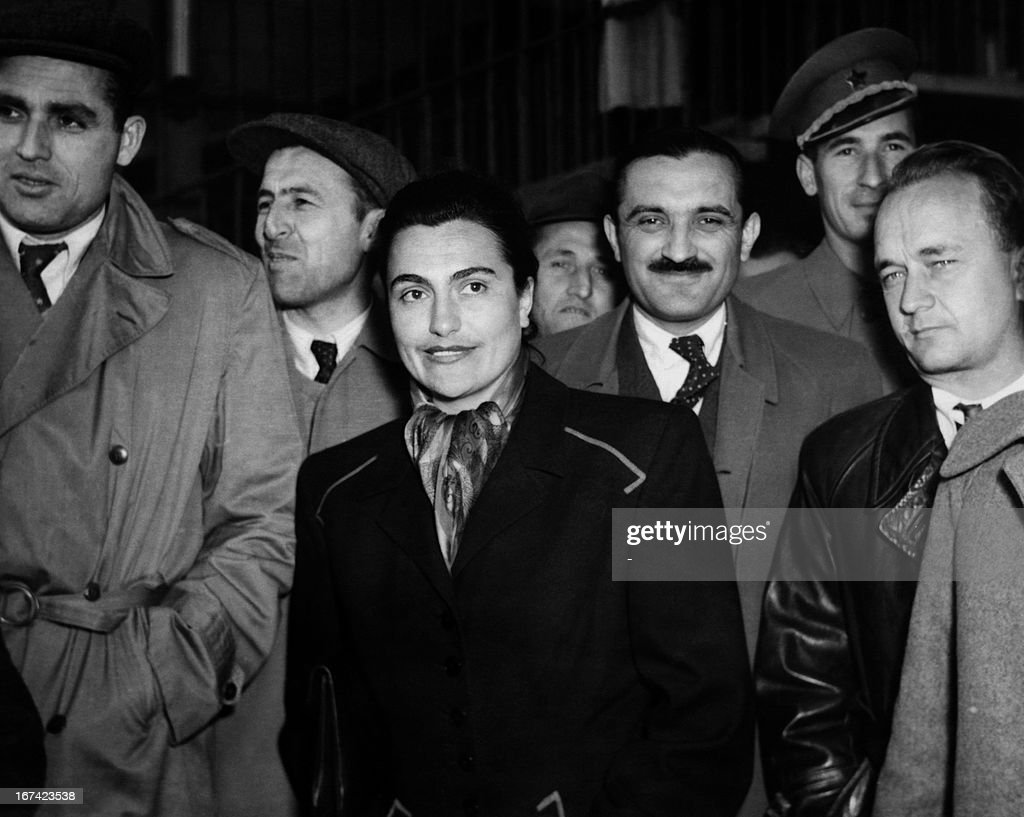 In this picture taken in November 1952 shows the new wife of Marshall Tito of Yugoslavia, Jovanka Broz at a Communist party congress in Zagreb.
