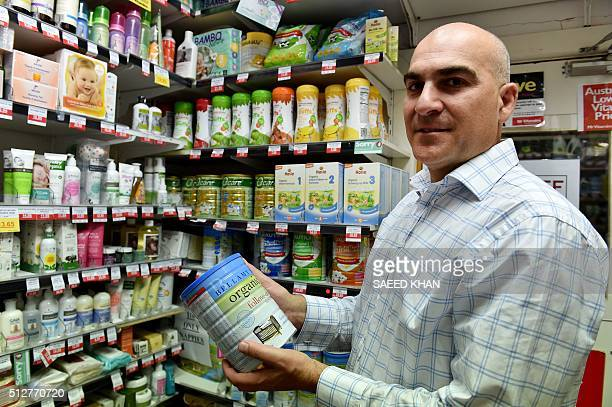 STORY 'AUSTRALIACHINAECONOMYHEALTHLIFESTYLE' FOCUS BY In this picture taken on February 16 Peter Barraket who heads up 'Mr Vitamins' a chain of...