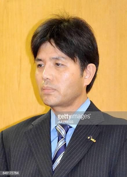 In this picture taken on July 1 provincial politician Ryutaro Nonomura attends a press conference in Kobe Hyogo prefecture Nonomura who became an...