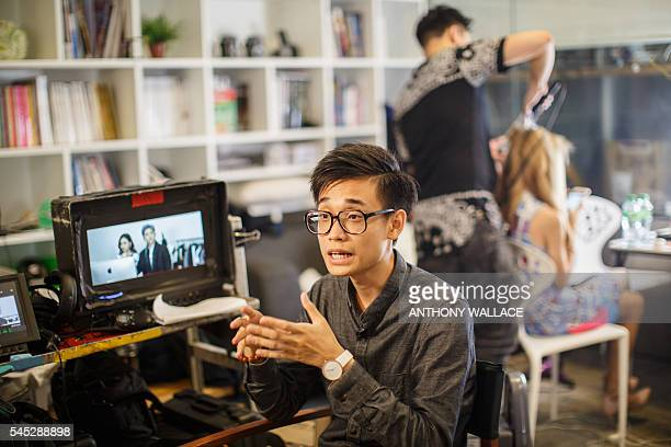 In this picture taken on June 7 recent graduate Crosby Yip speaks during an interview with AFP on the set of his privatelyfunded debut romcom 'Diary...