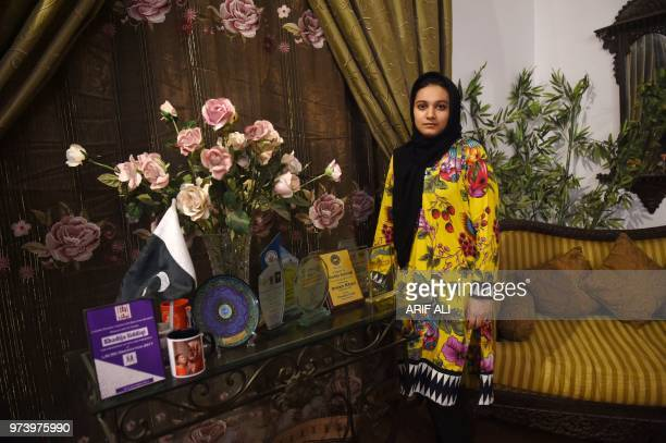 In this picture taken on June 8 Khadeeja Siddiqui a Pakistani law student who was stabbed 23 times by a classmate after she had rejected him...