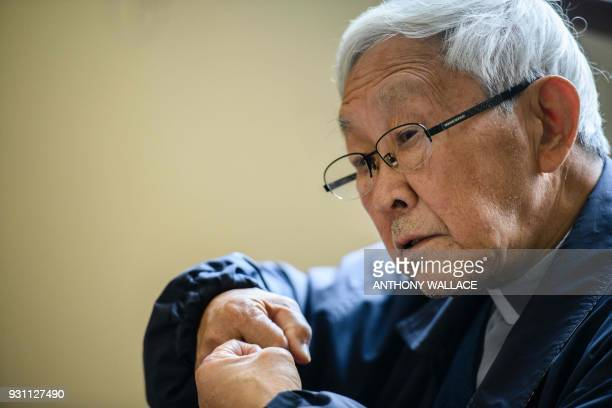 In this picture taken on March 5 Cardinal Joseph Zen former Bishop of Hong Kong, gestures during an interview with AFP in Hong Kong. - Hong Kong...