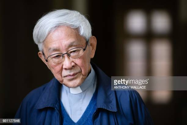 In this picture taken on March 5 Cardinal Joseph Zen former Bishop of Hong Kong, listens to a question during an interview with AFP in Hong Kong. -...
