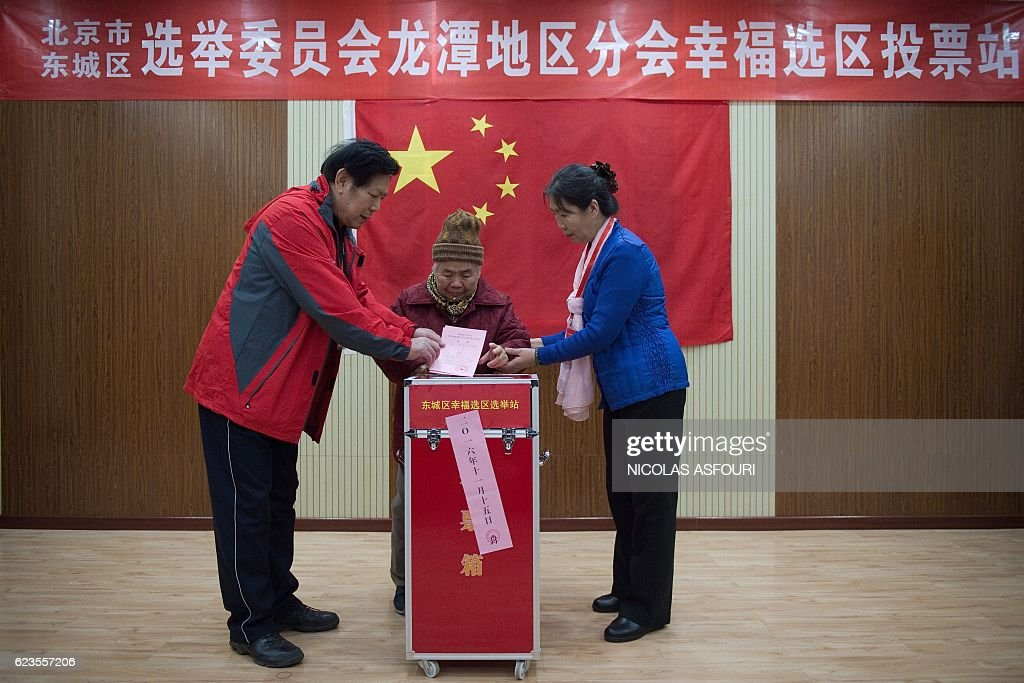 CHINA-POLITICS-VOTE-RIGHTS : News Photo