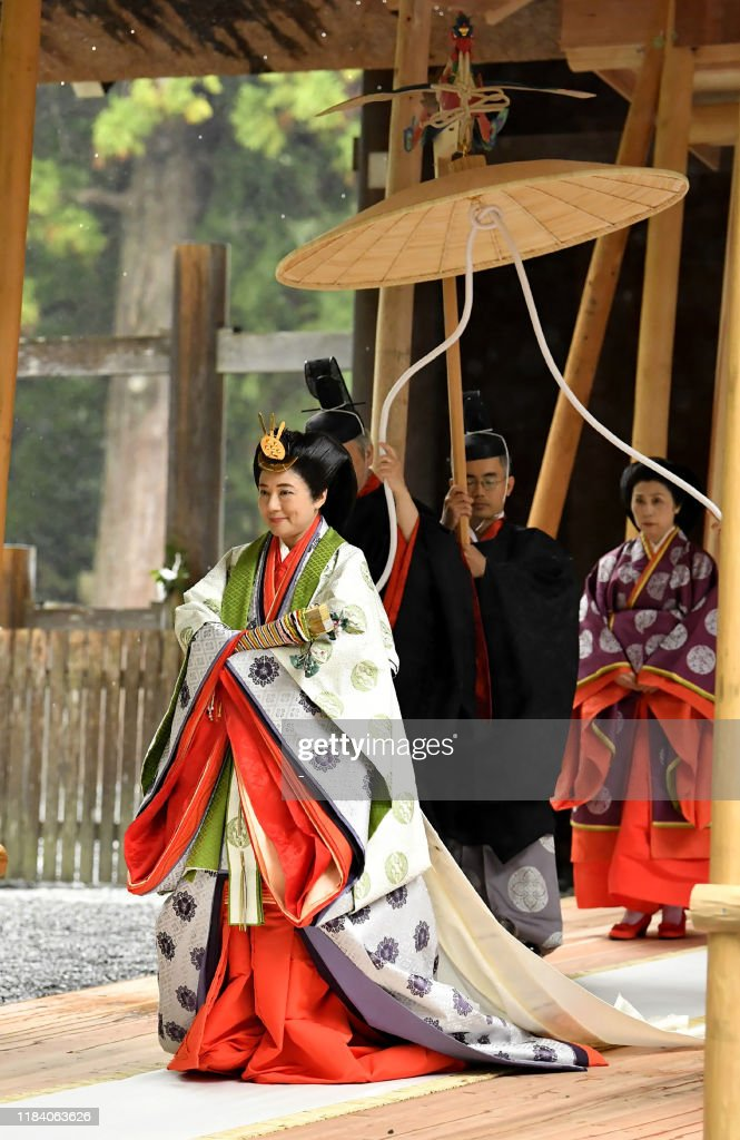 JAPAN-ROYALS-CEREMONY-EMPEROR : News Photo