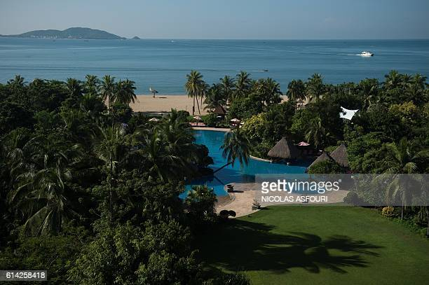 In this picture taken on October 12 2016 a general view shows the Club Med resort in Sanya Almost two years after being bought out by Chinese...