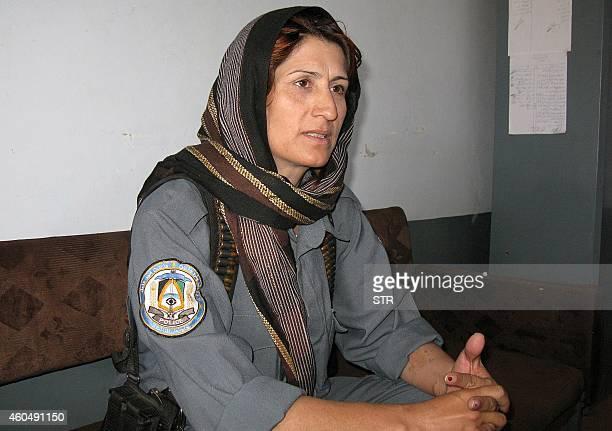 In this picture taken on September 25 2008 female police officer Malalai Kakar head of the city of Kandahar's department of crimes against women...