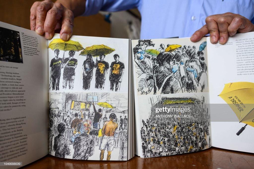 DOUNIAMAG-HONG KONG-CHINA-PROTESTS-ART-UMBRELLA-MOVEMENT-POLITIC : News Photo