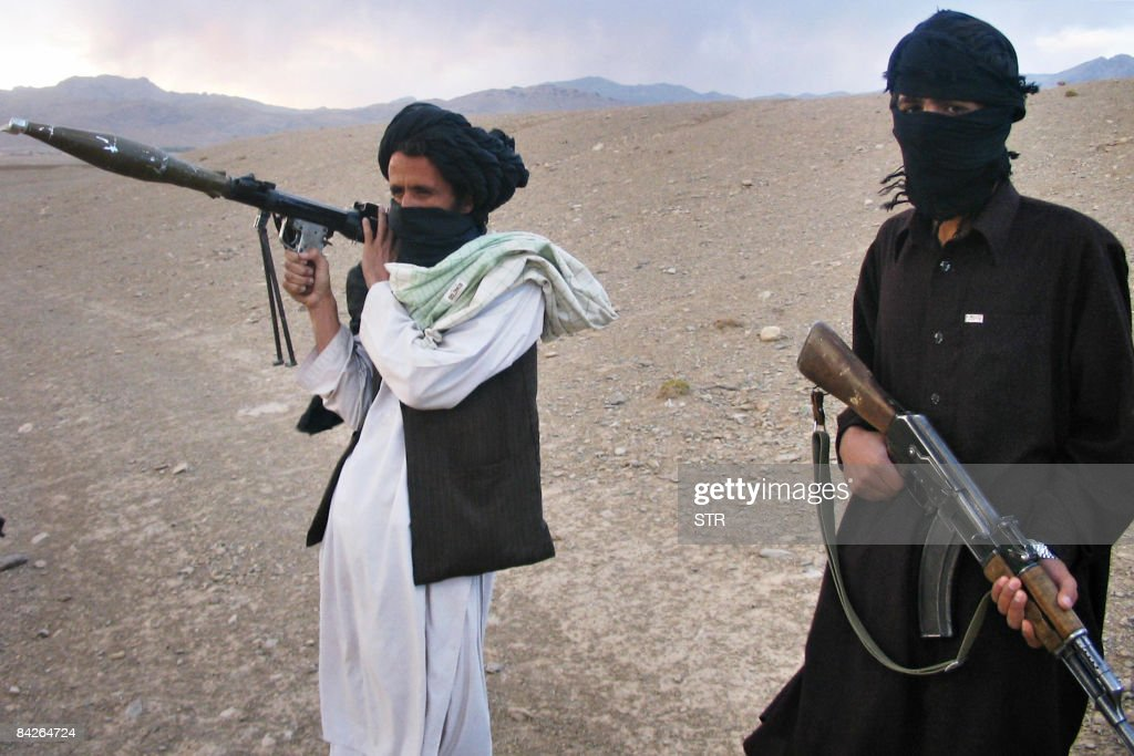 In this picture taken on September 26, 2008, Fighters with Afghanistan's Taliban militia stand on a hillside at Maydan Shahr in Wardak province, west of Kabul. Afghanistan's long years of unrest have produced a new generation of Islamic militants, many of them bent on holy war, who are reinforcing the 'old Taliban' in their deadly insurgency, analysts say. When the Taliban regime was toppled in a US-led invasion in late 2001, the hardliners were considered a spent force. But in their safe havens across the border in Pakistan, they have been able to regroup, recruit and -- armed with new ideologies, funds and warfare from the Al-Qaeda terror network -- make a deadly comeback, analysts say.