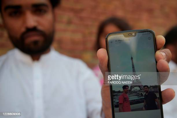 In this picture taken on September 29 Ghulam Mustafa brother of Hassan Arshad an 18yearold Pakistani born who injured two people in a meat cleaver...