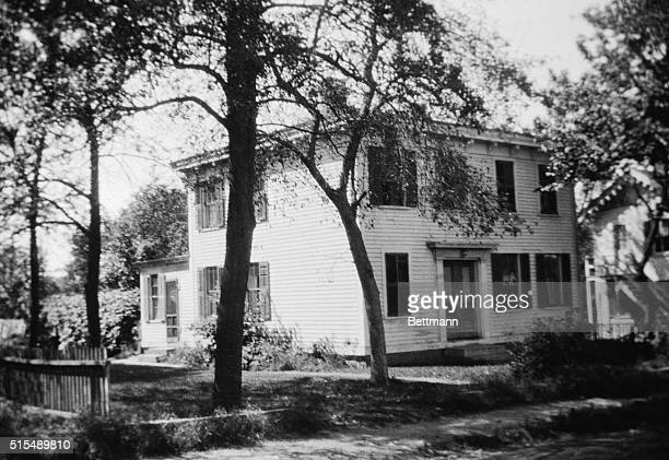 In this pleasant, old-fashioned two-story house, in Conn., Amelia Earhart, famous trans-Atlantic aviatrix and George Palmer Putnam were married. The...