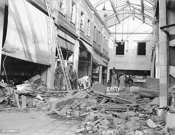 In this raid the central area of the city suffered badly with a high explosive bomb scoring a direct hit on the City Arcade and every shop front in...