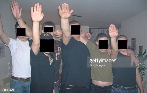 In this recent undated handout photo provided by the Israeli Police on September 9 RussianIsraeli members of a neoNazi cell who were arrested by...