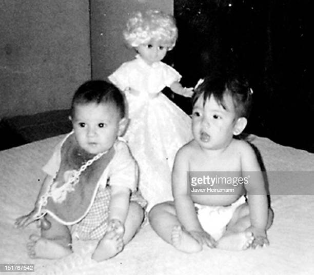 In this reproduction baby Lionel Messi poses for a picture in 1988 Rosario Argentina Messi was raised in his home town Rosario He used to play for...