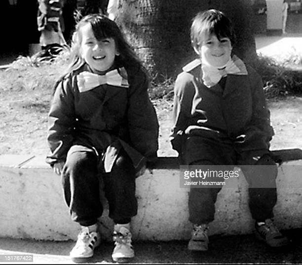 In this reproduction Lionel Messi of elementary school General Las Heras pose for a picture on 1992 in Rosario Argentina Barcelona´s Lionel Messi...