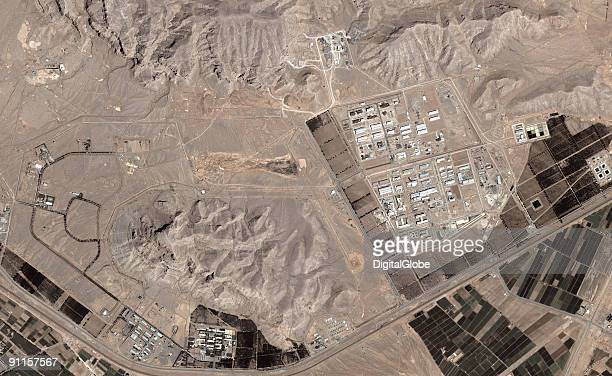 In this satellite image collected on May 8 2006 the Uranium conversion plant in Isfahan Iran is displayed According to reports Iran is building a...