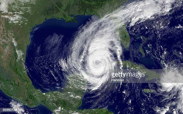 In this satellite image from NOAA Hurricane Wilma is shown from space October 23 2005 According to reports Hurricane Wilma has been upgraded to a...