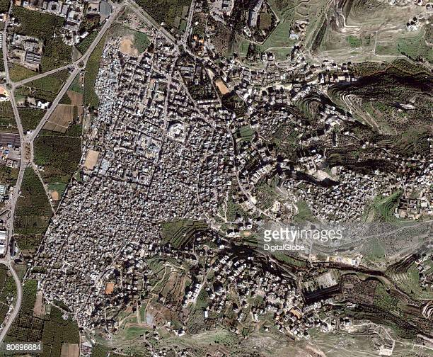 In this satellite image of a camp collected on January 8 2008 near Sidon Lebanon At least one man was killed and four wounded in a clash between...