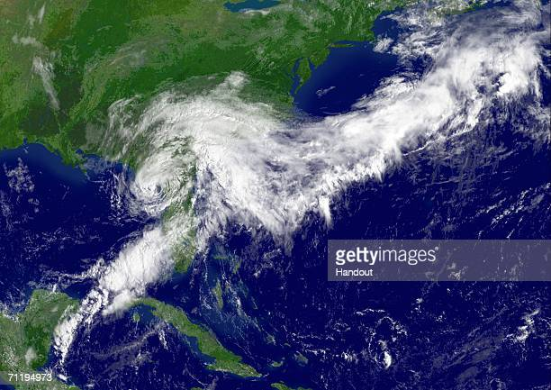 In this satellite image provided by the National Oceanic and Atmospheric Administration Tropical Storm Alberto the first named storm of the 2006...