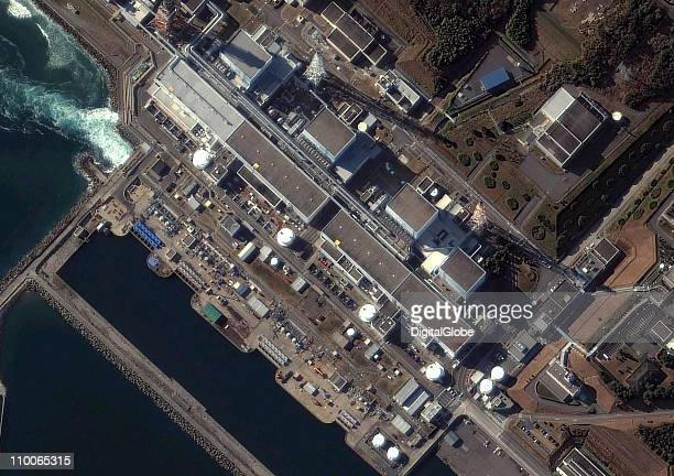 In this satellite view the Fukushima Daiichi Nuclear Power plant is seen on November 21 2004 in Futaba Japan The plant was rocked by two separate...