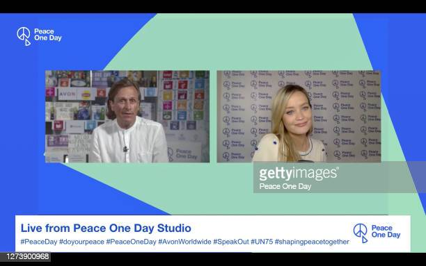 In this screen grab Founder of Peace One Day Jeremy Gilley speaks with host Laura Whitmore during Peace One Day presented virtually on the UN...
