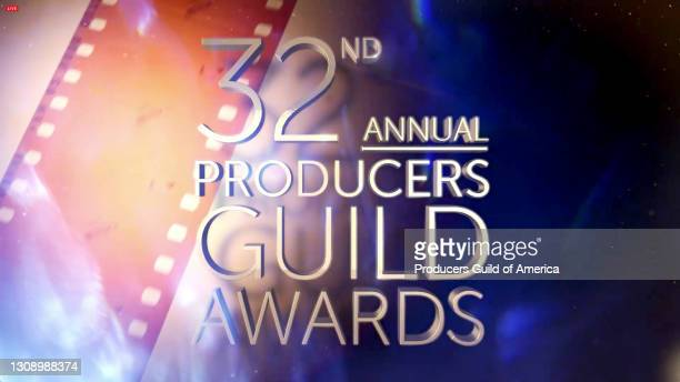 In this screengrab, a view of the screen is seen during the 32nd Annual Producers Guild Awards on March 24, 2021.
