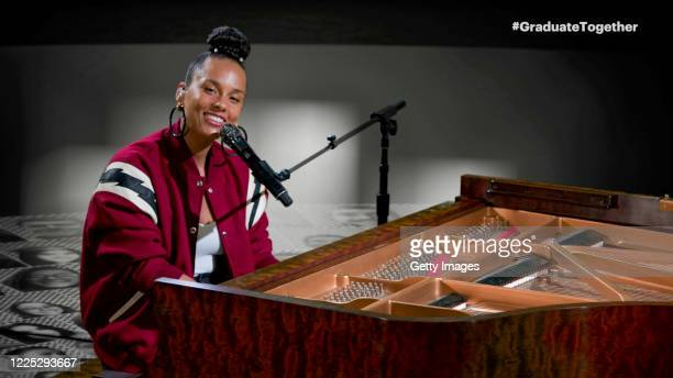 In this screengrab Alicia Keys performs during Graduate Together America Honors the High School Class of 2020 on May 16 2020