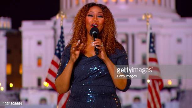 "In this screengrab, American gospel singer, Yolanda Adams performs for the 40th Anniversary of ""A Capitol Fourth"" on PBS on July 04, 2020 in..."