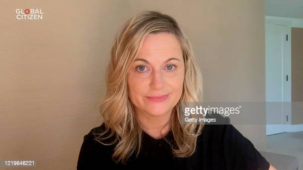In this screengrab Amy Poehler speaks during One World Together At Home presented by Global Citizen on April 2020 The global broadcast and digital...