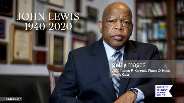 In this screengrab, an In Memoriam for John Lewis is seen at the 52nd annual Robert F. Kennedy Ripple of Hope Award gala, honoring courageous human...