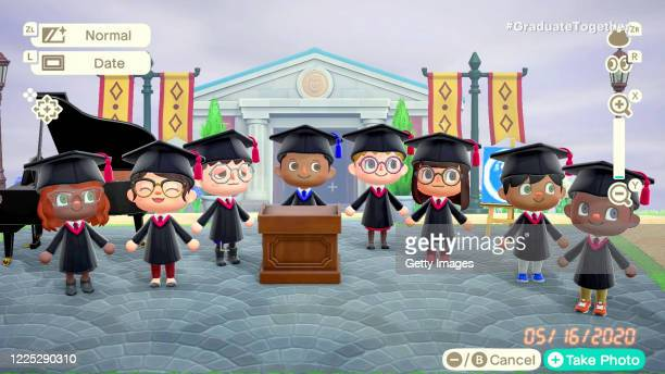 In this screengrab Animal Crossing characters speak during Graduate Together America Honors the High School Class of 2020 on May 16 2020