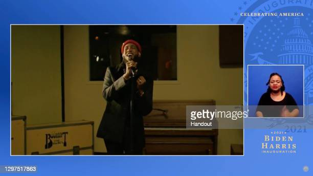 In this screengrab, Ant Clemons performs during the Celebrating America Primetime Special on January 20, 2021. The livestream event hosted by Tom...