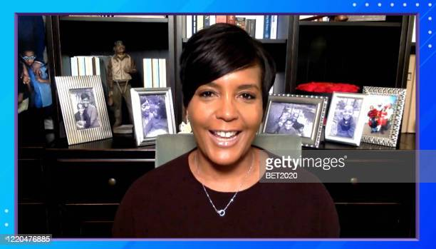 "In this screengrab Atlanta Mayor Keisha Lance Bottoms speaks during Saving Our Selves A BET COVID19 Effort airing on April 22 2020 ""Saving Our Selves..."