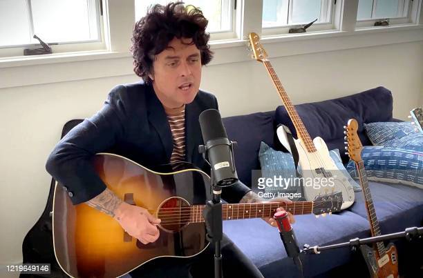 In this screengrab Billie Joe Armstrong of Green Day performs during One World Together At Home presented by Global Citizen on April 2020 The global...