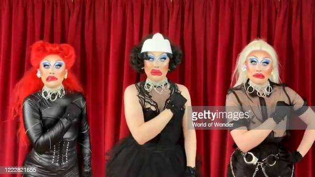"In this screengrab, Blu Hydrangea performs during ""RuPaul's Digital DragCon"" presented on May 2, 2020. DragCon LA 2020 was scheduled to take place at..."