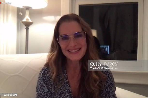 In this screengrab Brooke Shields speaks during a livestream event hosted by TheMOMScom's Denise Albert And Melissa Gerstein's #Mamarazzi Online for...