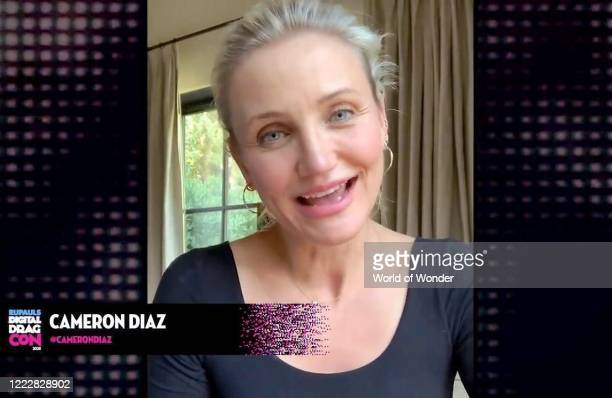 """In this screengrab, Cameron Diaz speaks during """"RuPaul's Digital DragCon"""" presented on May 3, 2020. DragCon LA 2020 was scheduled to take place at..."""