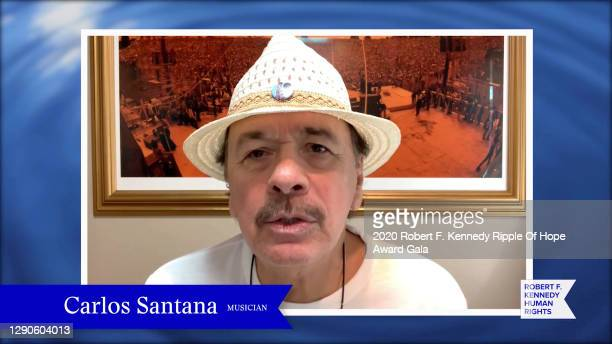 In this screengrab, Carlos Santana speaks at the 52nd annual Robert F. Kennedy Ripple of Hope Award gala, honoring courageous human rights defenders...
